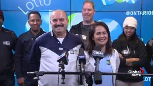 Guelph auto workers say they quit after winning $60M LottoMax ticket (00:51)