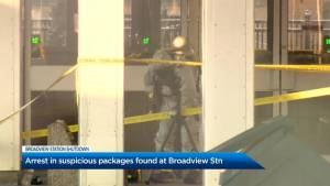 Man in custody after another suspicious package found at Toronto's Broadview station