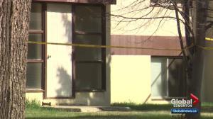 Homicide detectives investigating Strathearn scene