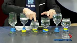 Cool Science: Teacher Michael Ng shows off water glass playing skill