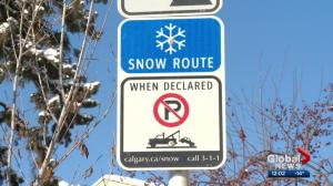 Over 1,300 tickets handed out during Calgary snow route parking ban
