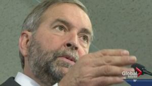 NDP leader Tom Mulcair makes campaign stop in Regina