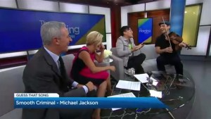 Juno winner Karrnell's plays 'Name That Song' with the hosts