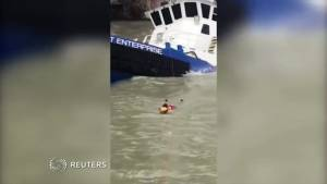 15 people rescued from capsized boat in Texas hurricane zone