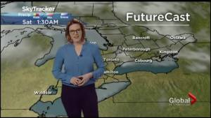 Damaging wind gusts up to 100 km/h expected Sunday