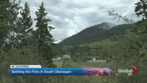 Hot and dry conditions spark deep concerns as crews battle out of control fires in the Okanagan.