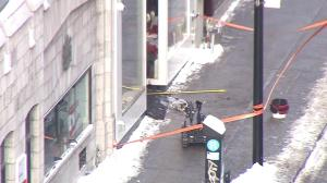 Police deploy bomb disposal robot outside Global Montreal newsroom