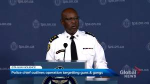 Toronto police unveil new plan to combat an increase in gun violence