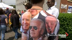 'Working-class' Americans come out in support of Joe Biden at first official campaign event for 2020 bid