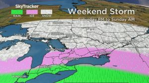 Rain, ice to hit southern Ontario over the weekend