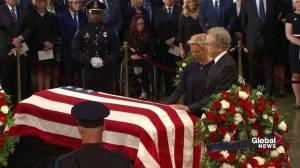 John McCain funeral: Actors Warren Beatty and Annette Bening visit senator's casket during memorial