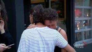 Friend of Danforth shooting victim Reese Fallon tearfully remembers the 'always happy' teen (01:32)