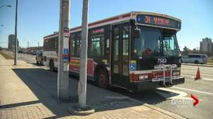 Bus shelters removed in advance of Crosstown LRT station construction