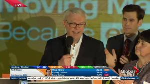 NDP leader says he's proud of candidates, party's campaign during election