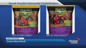 Frozen berries recalled over possible Salmonella contamination