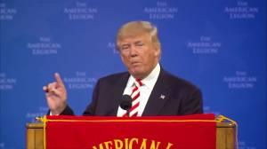 Trump back on campaign trail following Mexico trip; Clinton campaign calls Trump's visit a failure