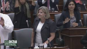 Horwath, Ford get into heated dispute over sex-ed curriculum (00:54)