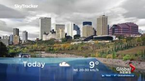 Edmonton early morning weather forecast: Tuesday, October 10, 2017