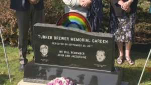 Memorial to two abused children who died in N.B. unveiled in Saint John