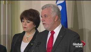 Philippe Couillard announces emergency cabinet shuffle; addresses Moreau's health (02:46)