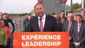 Tom Mulcair announces expanded EI program