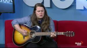 Country music artist Mariel Buckley performs