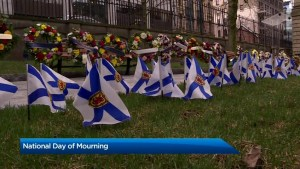 Nova Scotia marks national day of mourning