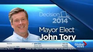 Toronto Election: John Tory elected mayor of Toronto