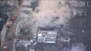 Firefighters battling stubborn Lawrence Park fire