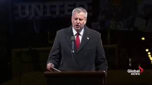 New York mayor says Americans should stand together during Trump presidency