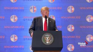 Trump-Kim summit: Trump says U.S. gave up nothing in North Korea deal