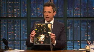 Seth Meyers' wife gives birth in apartment lobby