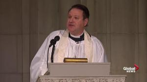 'Mission complete': Priest delivers laughter-filled sermon for Bush