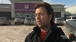 Frustrated Manitoba Liquor Mart customer recounts brazen theft (01:17)