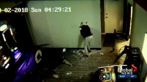 Vandals caught on camera trashing pub