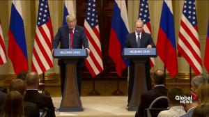 Trump says course of US/Russia relations changed 'a few hours ago'