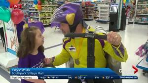 """Edmonton girl gets ready for 3-minute shopping spree at local Toys""""R""""Us"""