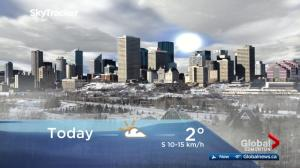 Edmonton early morning weather forecast: Monday, March 19, 2018