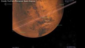 Animation shows the expected arrival trajectory of the ESA's Mars Lander