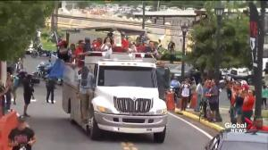 Boston Red Sox bring World Series trophy to Puerto Rico
