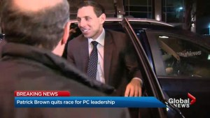 Patrick Brown withdraws from Ontario PC Party leadership race