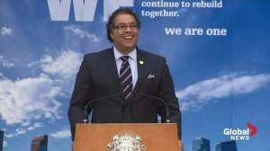 Extended: Mayor Nenshi commemorates 1-year anniversary of Calgary floods