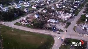 Drone footage captures aftermath of tornado in Dayton, OH