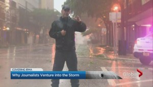 Why journalists venture into the storm