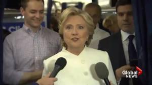 Clinton calls Trump response to conceding election 'horrifying'