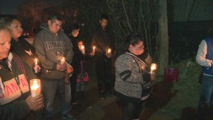 Candlelight vigil held in north Edmonton to remember city's latest homicide victim