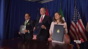 USMCA: Freeland, U.S., Mexico counterparts sign trade deal