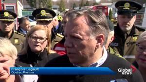 Quebec premier tours Ste-Marthe-sur-le-Lac after dike rupture