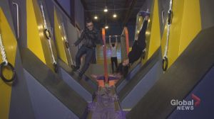 Adult playtime inside Toronto's 30,000-square-foot obstacle course