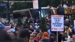 Pro-Colin Kaepernick rally held outside NFL headquarters in New York City